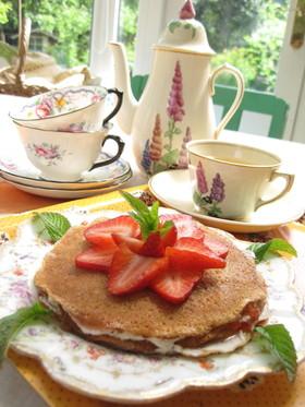 卵、牛乳不使用パンケーキでミルクレープ風