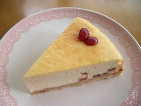 簡単☆クランベリーのチーズケーキ
