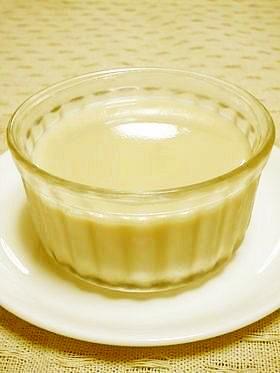 レンジdeなめらか紅茶豆乳ぷりん。