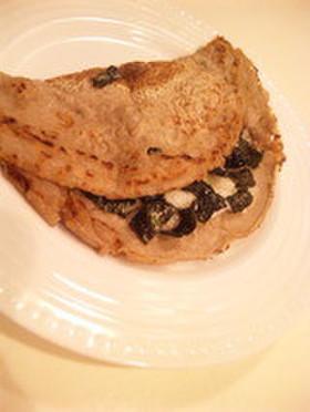 海苔とチーズと長芋deそば粉のクレープ