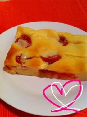 簡単!HM使用♥プチトマトのチーズケーキ