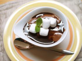 米粉と豆乳のお手軽チョコプリン