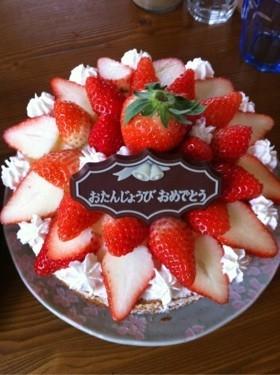 バター不使用☆母のスポンジケーキ