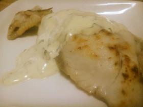 白身魚のムニエル バジルソース