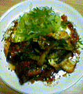 グリルチキンと野菜ソテー