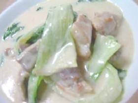 簡単チンゲン菜のミルク煮