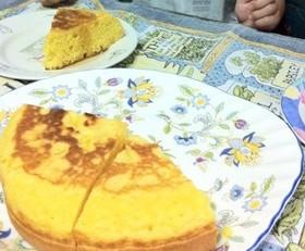 スポンジケーキのようなパンケーキ