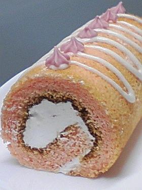 ラブリーピンク☆苺ミルクのロールケーキ♪