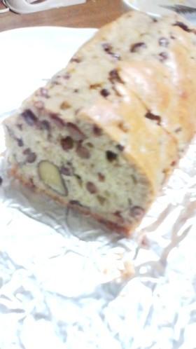 小豆と栗の和風パウンドケーキ