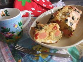 簡単!バジルとトマトのパウンドケーキ