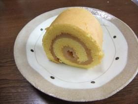 夏蜜柑餡入りロールケーキ