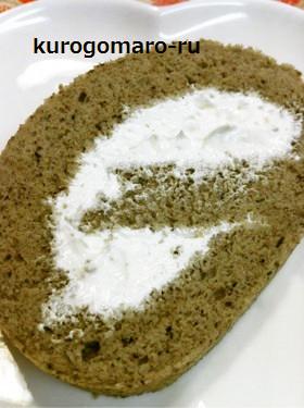 黒ゴマのロールケーキ~☆
