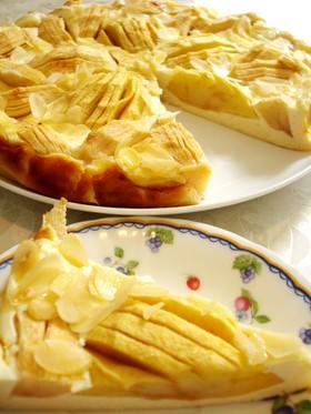 りんごアーモンドチーズケーキ