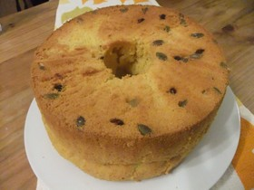 米粉でかぼちゃのシフォンケーキ