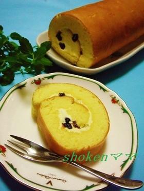 バタークリームのロールケーキ(外巻き)♪