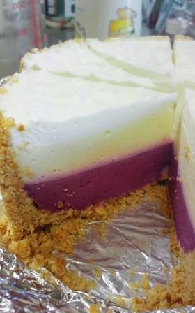 3層のレアチーズケーキ