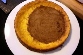 しっとり濃厚なパンプキンチーズケーキ。