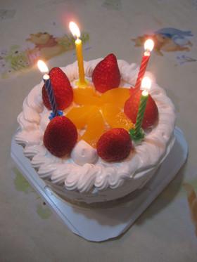 【卵、牛乳不使用】バースデーケーキ
