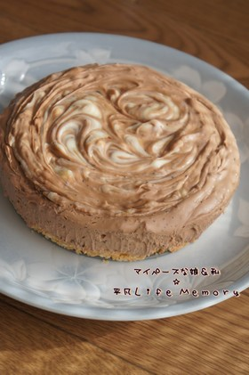 紅茶ショコラマーブルレアチーズケーキ