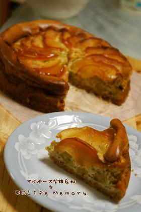 はちみつ林檎&薩摩芋の紅茶チーズケーキ