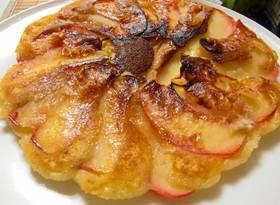 フライパンでタルトタタン風りんごケーキ