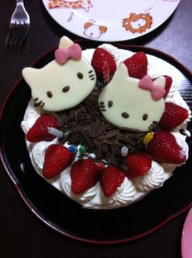 スポンジケーキ キティちゃん