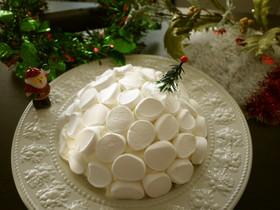 マシュマロのスノードームクリスマスケーキ