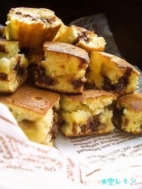 簡単おやつ★バナナチョコホットケーキ