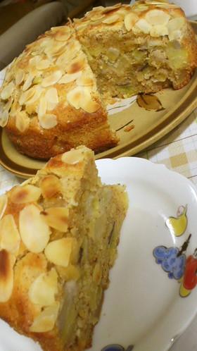 林檎バナナお芋のアーモンドチーズケーキ♪