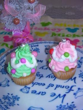 クリスマス♡ツリーのカップケーキ