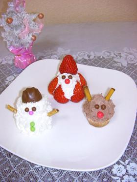 クリスマス♡トリオの簡単カップケーキ