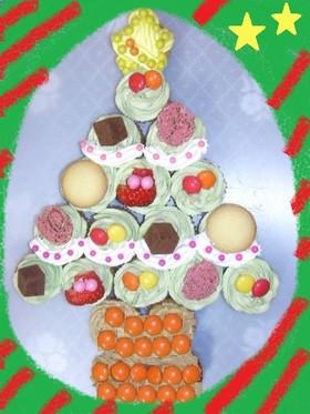クリスマス♡カップケーキでツリー