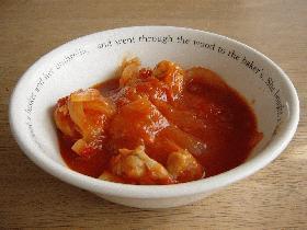 簡単☆チキンのトマト煮