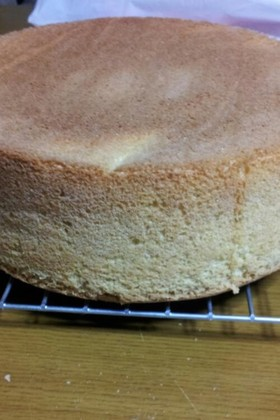 てんさい糖でスポンジケーキ。バター不使用