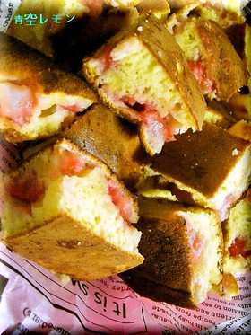 簡単おやつ★苺ホワイトチョコホットケーキ