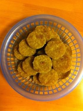 米粉と黒砂糖と菜種油クッキー