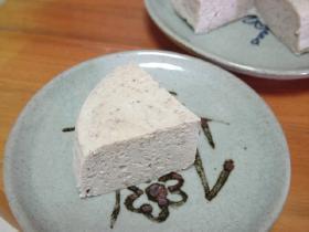 ダイエット中にも*お豆腐とあんこのスフレチーズケーキ風
