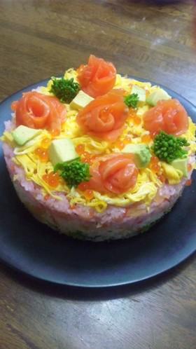 ひな祭り✿ちらし寿司ケーキ