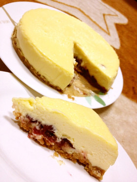 **レモンクランベリーチーズケーキ**
