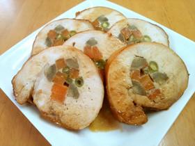 鶏むね肉のチキンロール(野菜巻き)