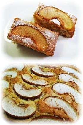 米粉でりんごとココナッツのケーキ