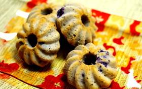 ブルーベリーの焼きドーナツ