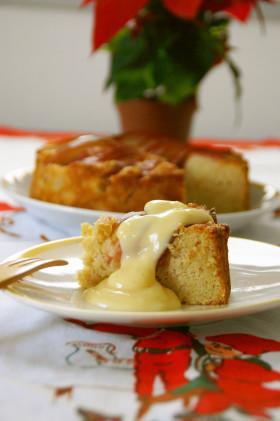 スウェーデン風オートミール入り林檎ケーキ