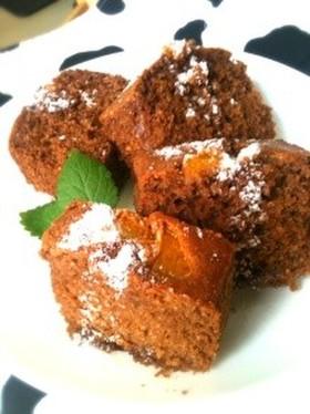グラハム粉でオレンジ香るチョコパウンド