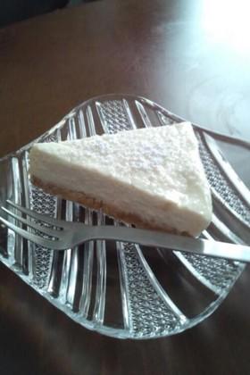 ハチミツを使ったレアチーズケーキ♪