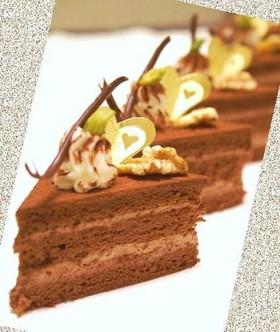 ふわふわ+* チョコレートケーキ*+
