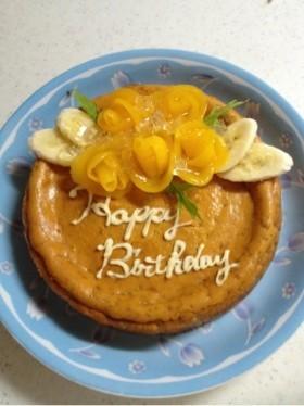 完熟バナナのキャラメルバナナチーズケーキ