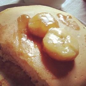 パンケーキに!キャラメルバナナソース
