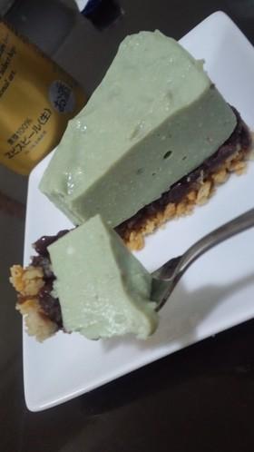 豆腐と抹茶のレアチーズケーキ