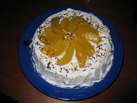 ふわふわなスポンジケーキ(ピーチケーキ)
